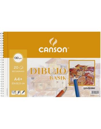 Bloc Espiral Dibujo CANSON Basik Din-A4+ Liso 130 g. Con